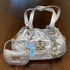 Kathy VanZeeland Croco Embossed Satchel & Mini Bag